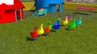 学习数字1到10与彩色鸭子儿童王国学习押韵