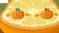 五个小桔子水果歌学习水果儿歌婴儿歌