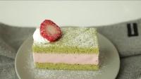 抹茶草莓慕斯蛋糕matchastrawberrymoussecake,美味至极