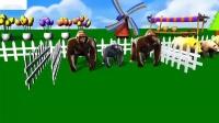 动物园动物错色水果儿童游戏森林动物吃水果儿童王国