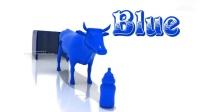 学习儿童用奶牛的颜色儿童用动物奶瓶的颜色