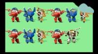 超级飞侠和变形警车金刚玩对对碰小游戏