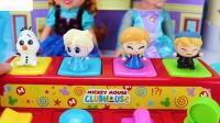 学习迪斯尼冷冻弹出式玩具安娜的颜色奥拉夫