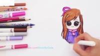如何一步一步地画彩色千碧女孩9蜡笔铅笔