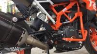 新款KTM 390Duke天蝎碳纤维尾段&Leovince消音中段-室内室外声浪对比
