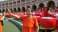 五彩空竹舞龙艺术团在和平区全运会活动中摄影拾零