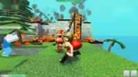 【小熙&屌德斯】Roblox荒岛求生模拟器 圣诞机器人与小姐