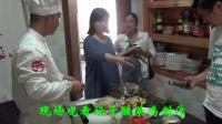 十大名厨蒙洋和赵庆莲接受中央电视台记者专访