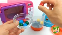 学习厨房搅拌机微波游戏机和玩具车卡车机器人的颜色
