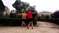 连玉姐妹广场舞双人对跳《一路歌唱》
