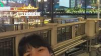广州塔下夜珠江
