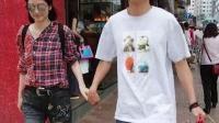 洪欣张丹峰牵手逛街,感情一如从前,恩爱不变!