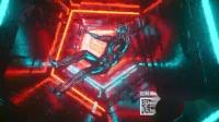 v300 4K画质超高清彩色霓虹灯管灯光闪耀灯光秀时空隧道3D人物迷幻色彩穿梭 儿童节 六一