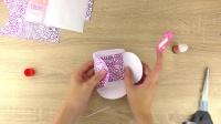 手工制作 DIY简单折纸 超级可爱粉色 爱心 蝴蝶 贴纸信封 礼物包装