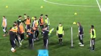 青少年足球教学——热身部分2