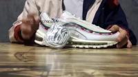 Nike Air Max 97 x UNDFTD联名白绿子弹气垫跑鞋 不败子弹 AJ1986 100 莆田鞋和正品差在哪?顶级版本看不出来