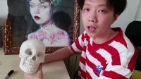 【虫虫刺青】欧美写实纹身课程,第一课(头像的骨骼结构)