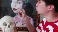 【虫虫刺青】欧美写实纹身课程,第二课(头像的骨点应用)