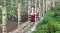 6.9进德湘桂线DF4D牵引K1192次与5533次晚点4小时会车K559+562m