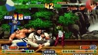拳皇98c:大门这场战斗力爆棚,空吸岚之山拿住特瑞