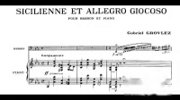 Gabriel Grovlez - Sicilienne et Allegro Giocoso for Bassoon