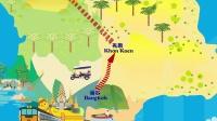 泰国西北部自驾线路动画