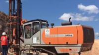 志高掘进ZEGA一体潜孔钻车D450A广西玉林水泥矿山爆破土石方清表