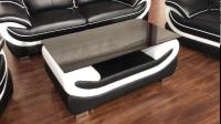 leather sofa nice design black with white color