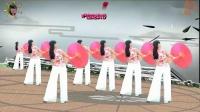 阳光美梅原创广场舞《烟雨江南》古典伞舞-背面