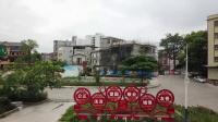 航拍博罗县石坝镇人民广场全景