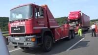 040619-VN24-(Teil2)-LKW Bergung des Unfall Wracks auf A1 bei Schwerte