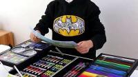 儿童水彩笔绘画工具箱彩笔套装幼儿园画画笔彩色学生用安全无毒可水洗小学生可洗色彩笔宝宝涂鸦全套美术颜色