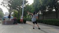 (4)蝶舞仙子团扇舞《雨中花》背面习舞2019年6月26日