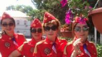 敦化市胜利街凌武社区庆祝建国70周年-水兵舞串烧《再唱山歌给党听》