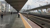 G6022次(深圳北站—岳阳东站)本务广州动车段CRH3C型重联高速通过广州北站
