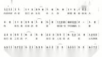 《中国人民解放军军歌》动态简谱版,给想学唱歌曲的你!