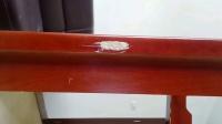 李金家具补漆维系家具破损红色茶几破损修复详细视屏教程