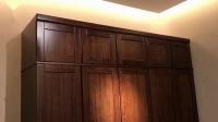 尚木元素 新中式衣柜组合黑胡桃木衣柜 四门五门木质衣柜