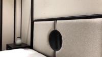 尚木元素 新中式实木双人床主卧1.8米大床现代简约架子床