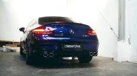 双门奔驰AMG C43 Coupe 改装ARMYTRIX全段阀门排气-安装/关开阀门测声浪/弹射起步炸街