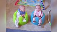 乐趣和失败!爆笑双胞胎宝宝说话,做的秘密文件语言翻译...