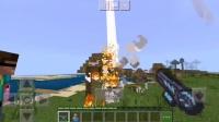 呆呆我的世界:村民大叔欺负爆爆?我用粒子激光炮轰炸了村庄的房屋!