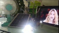 solar power system with lamp TV FAN