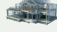 未来美家轻钢别墅搭建过程动动画