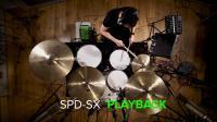 Roland混合鼓组:在演奏原声鼓时播放音频