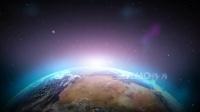 c948 蓝色地球星球行星震撼宇宙太空夜空星云星尘LED大屏幕舞台背景视频素