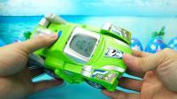 恐龙机甲玩具变形 绿色霸王龙和黄色的剑龙玩具