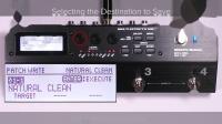 BOSS MS-3多功能效果切换控制器 快速入门 第三章: 保存音色