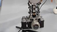Thinker Lamp robot, vintage camera Clock