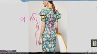 服装裁剪服装纸样ET打版-碎花短袖包臀连衣裙打版教程2-3